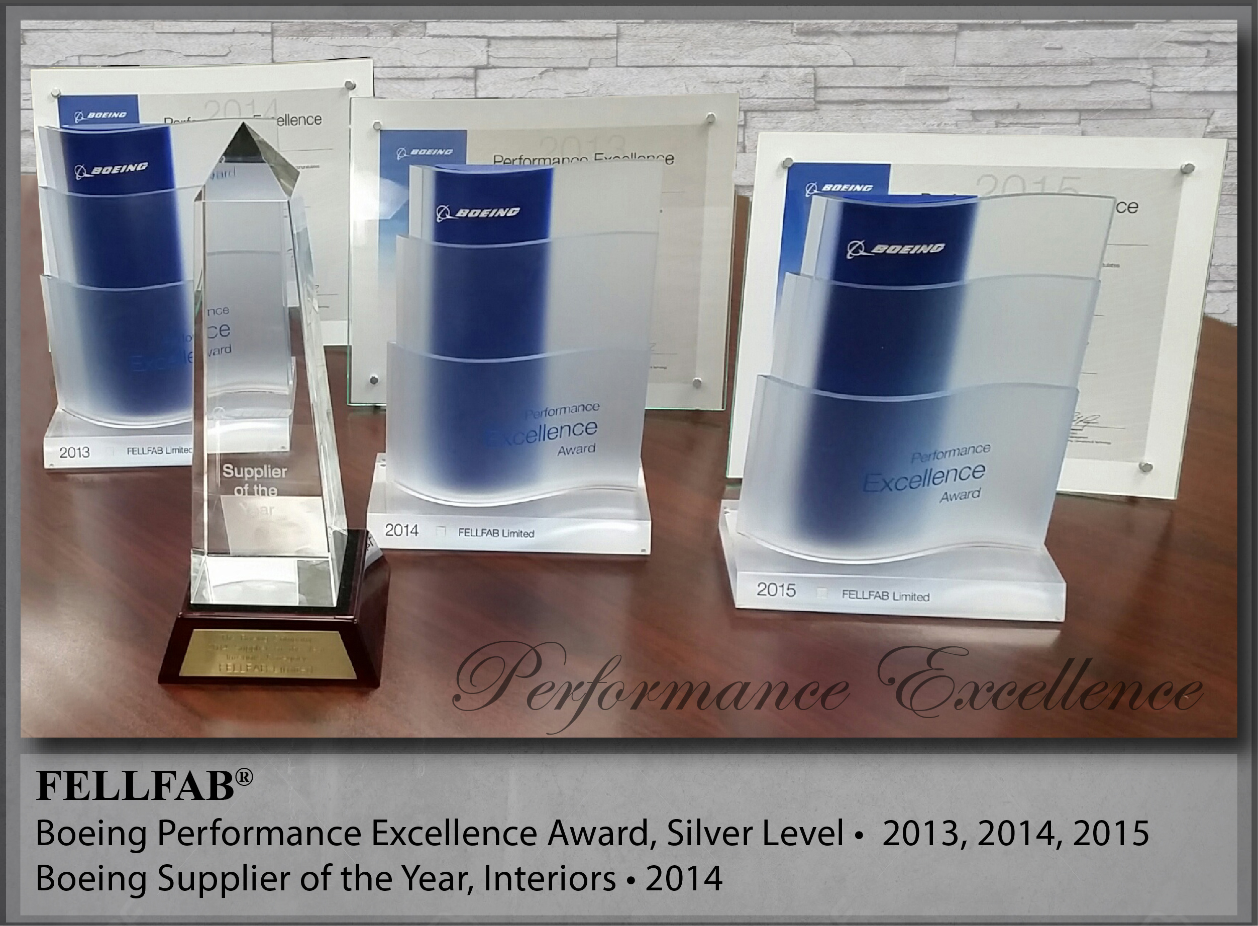 Boeing Performance Award - Silver Level FELLFAB®