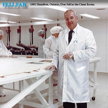 FELLFAB, Hamilton, Ontario, The Clean Room - in photo Don Fell- 1981