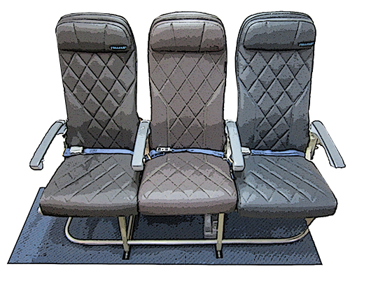 Aviation Sample Drawing of Seat Back Covers & Cushions