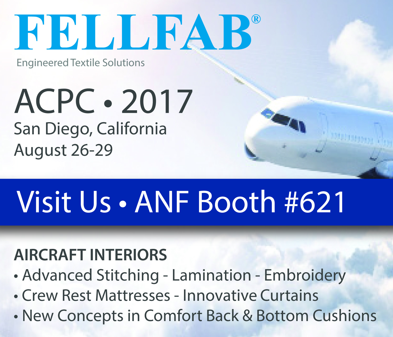 FELLFAB will be exhibiting at APTA 2017