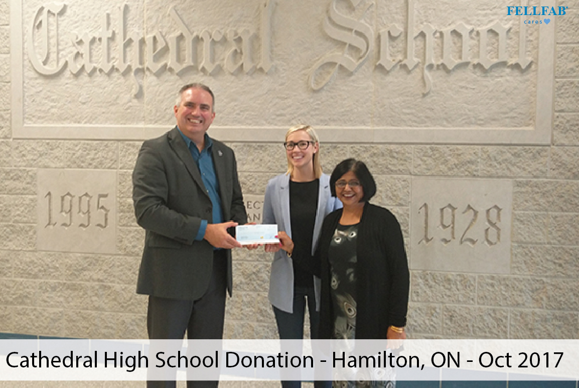 Cathedral High School Donation - Hamilton, ON - Oct 2017-01