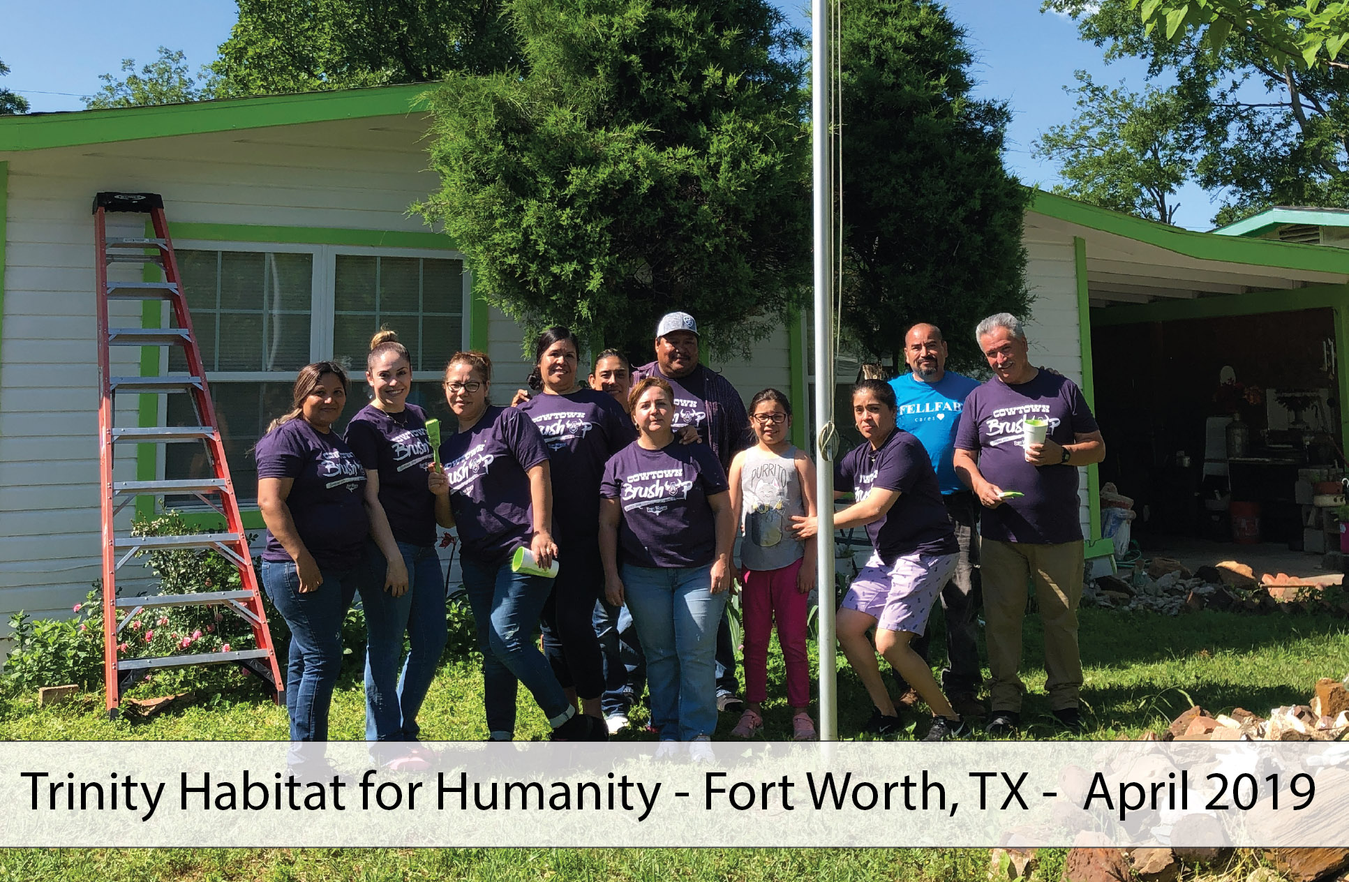 Trinity Habitat for Humanity House Painting FFC April 2019